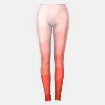 Thumbnail image of Living coral geometric mesh ombre Leggings, Live Heroes