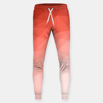 Thumbnail image of Living coral geometric mesh ombre Sweatpants, Live Heroes