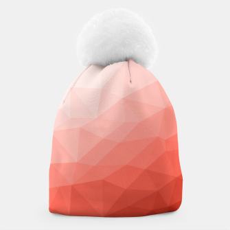 Thumbnail image of Living coral geometric mesh ombre Beanie, Live Heroes
