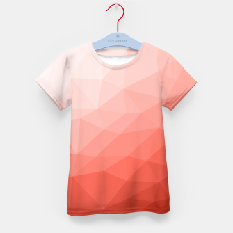 Thumbnail image of Living coral geometric mesh ombre Kid's t-shirt, Live Heroes