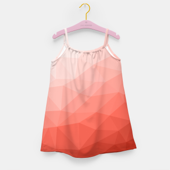 Thumbnail image of Living coral geometric mesh ombre Girl's dress, Live Heroes