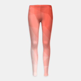 Thumbnail image of Living coral geometric mesh ombre Girl's leggings, Live Heroes