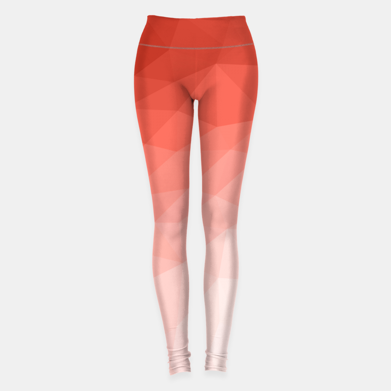 Image of Living coral geometric mesh ombre Leggings - Live Heroes