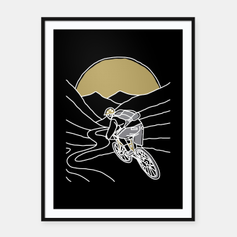 Thumbnail image of Mountain Biker Framed poster, Live Heroes