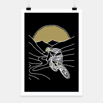 Thumbnail image of Mountain Biker Poster, Live Heroes