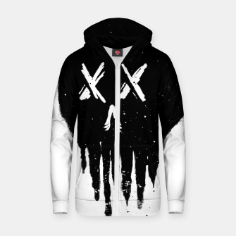 Thumbnail image of Trickle Skull Zip up hoodie, Live Heroes