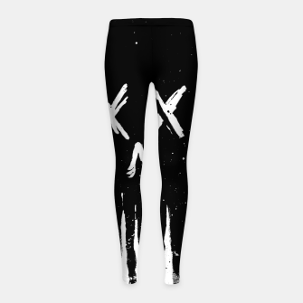 Thumbnail image of Trickle Skull Girl's leggings, Live Heroes