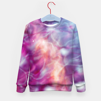 Thumbnail image of Pink blue abstract Kid's sweater, Live Heroes