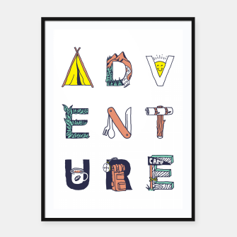 Miniatur Adventure Typography Framed poster, Live Heroes