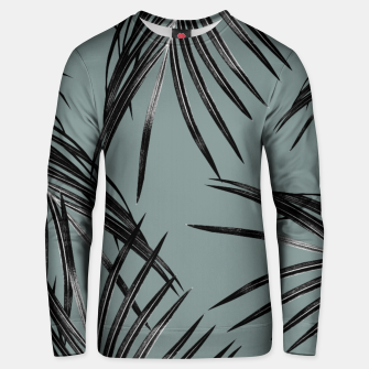 Miniatur Black Palm Leaves Dream #4 #tropical #decor #art  Unisex sweatshirt, Live Heroes