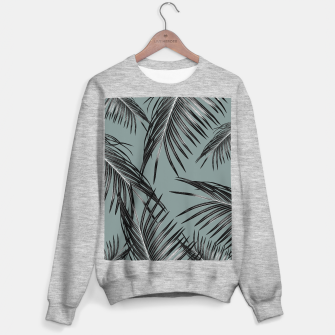 Miniatur Black Palm Leaves Dream #4 #tropical #decor #art  Sweatshirt regulär, Live Heroes