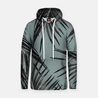 Miniatur Black Palm Leaves Dream #4 #tropical #decor #art  Kapuzenpullover, Live Heroes
