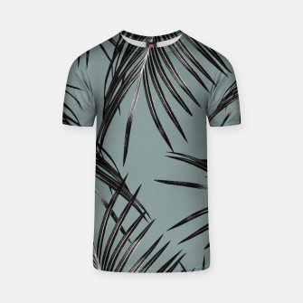 Miniatur Black Palm Leaves Dream #4 #tropical #decor #art  T-Shirt, Live Heroes