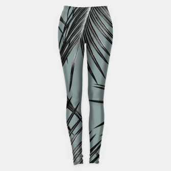 Miniatur Black Palm Leaves Dream #4 #tropical #decor #art  Leggings, Live Heroes