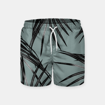 Miniatur Black Palm Leaves Dream #4 #tropical #decor #art  Badeshorts, Live Heroes