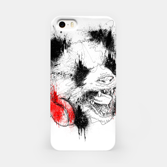 Miniatur Panda Roar Scratch iPhone Case, Live Heroes
