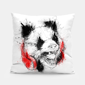 Miniatur Panda Roar Scratch Pillow, Live Heroes