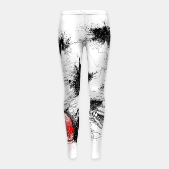 Miniatur Panda Roar Scratch Girl's leggings, Live Heroes