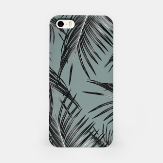 Miniatur Black Palm Leaves Dream #4 #tropical #decor #art  iPhone-Hülle, Live Heroes