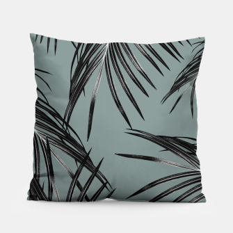 Miniatur Black Palm Leaves Dream #4 #tropical #decor #art  Kissen, Live Heroes