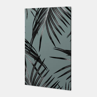 Miniatur Black Palm Leaves Dream #4 #tropical #decor #art  Canvas, Live Heroes