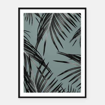 Miniatur Black Palm Leaves Dream #4 #tropical #decor #art  Plakat mit rahmen, Live Heroes
