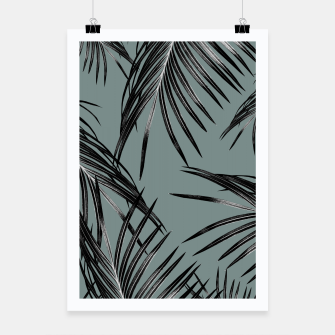 Miniatur Black Palm Leaves Dream #4 #tropical #decor #art  Plakat, Live Heroes