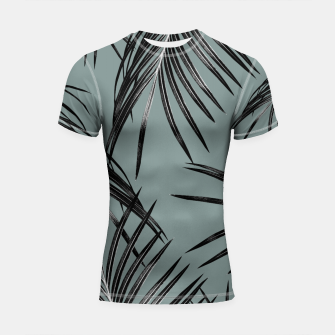 Miniatur Black Palm Leaves Dream #4 #tropical #decor #art  Shortsleeve rashguard, Live Heroes