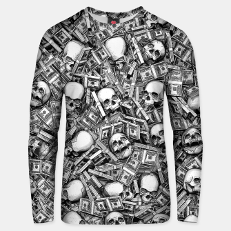 Thumbnail image of Root Of All Evil Unisex sweater, Live Heroes