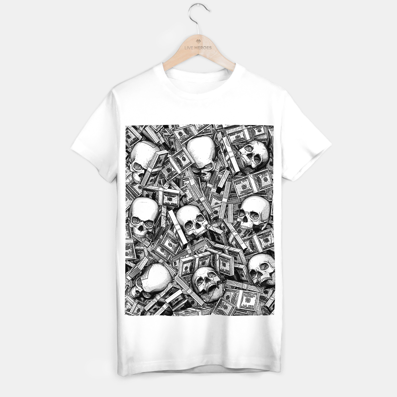Image of Root Of All Evil T-shirt regular - Live Heroes