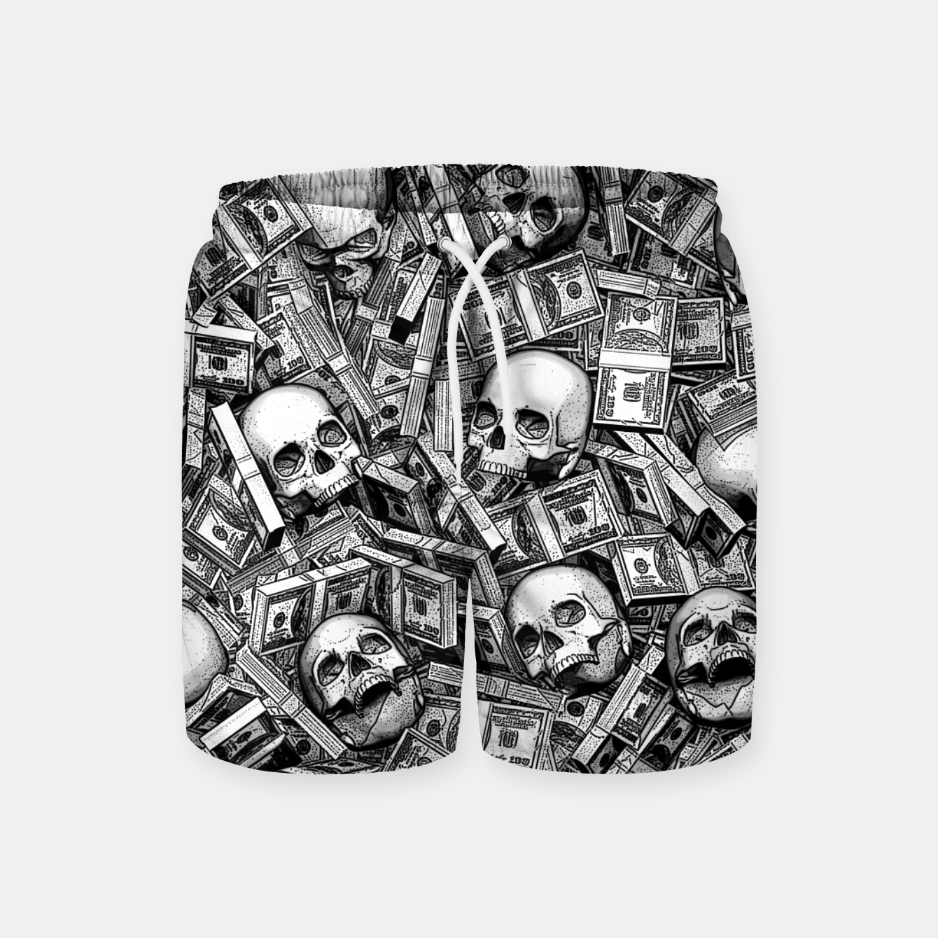 Image of Root Of All Evil Swim Shorts - Live Heroes