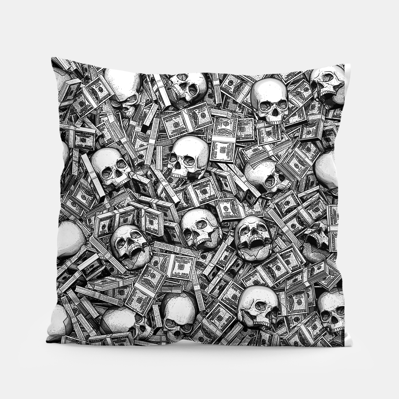 Image of Root Of All Evil Pillow - Live Heroes
