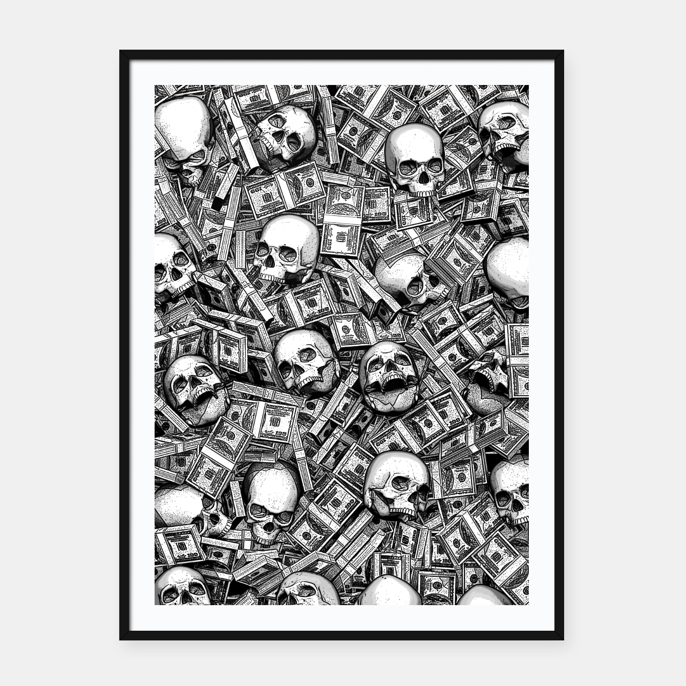 Image of Root Of All Evil Framed poster - Live Heroes