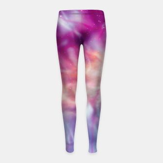 Thumbnail image of Pink blue abstract Girl's leggings, Live Heroes