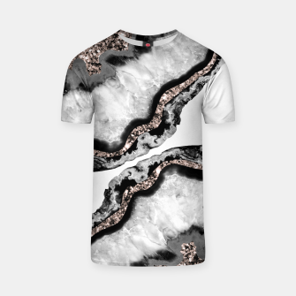 Yin Yang Agate Glitter Glam #2 #gem #decor #art T-Shirt miniature