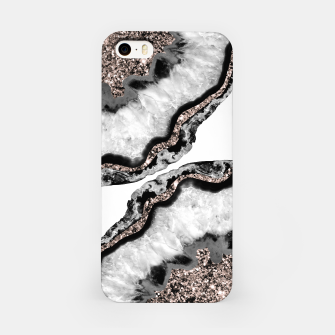 Yin Yang Agate Glitter Glam #2 #gem #decor #art iPhone-Hülle obraz miniatury