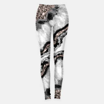 Yin Yang Agate Glitter Glam #2 #gem #decor #art Leggings obraz miniatury
