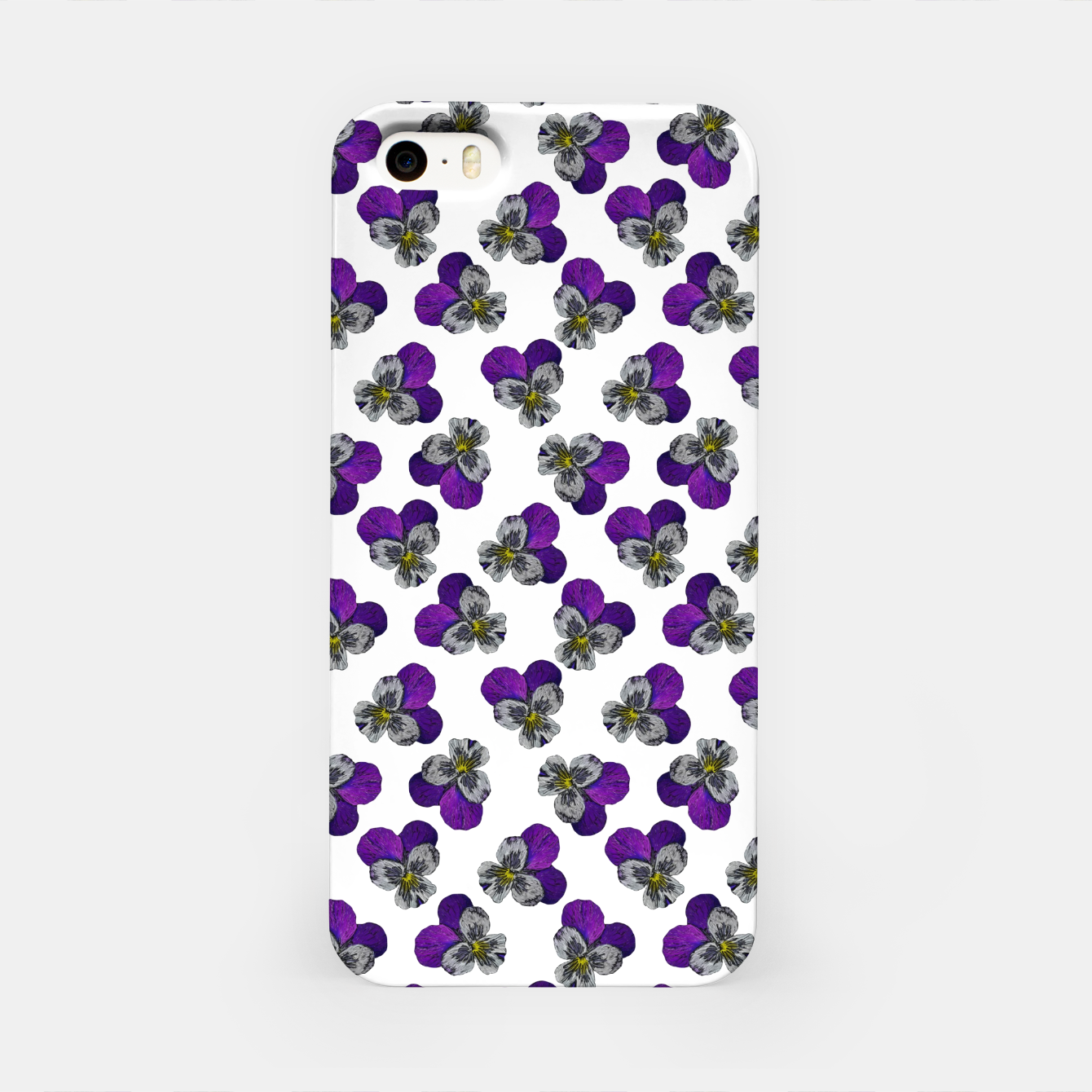 Image of Violet flowers iPhone Case - Live Heroes
