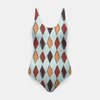 Thumbnail image of Harlequin Circus Espresso Swimsuit, Live Heroes