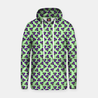 Flowers violets on a green background Hoodie thumbnail image