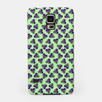 Flowers violets on a green background Samsung Case thumbnail image