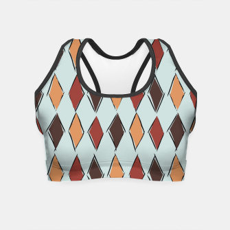 Thumbnail image of Harlequin Circus Espresso Crop Top, Live Heroes