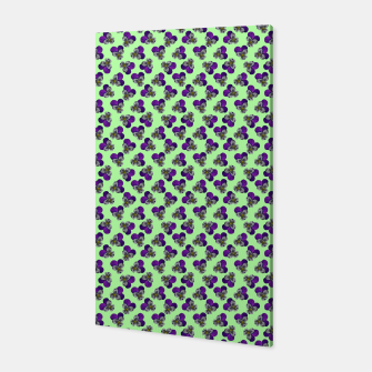 Flowers violets on a green background Canvas thumbnail image