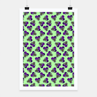 Flowers violets on a green background Poster thumbnail image