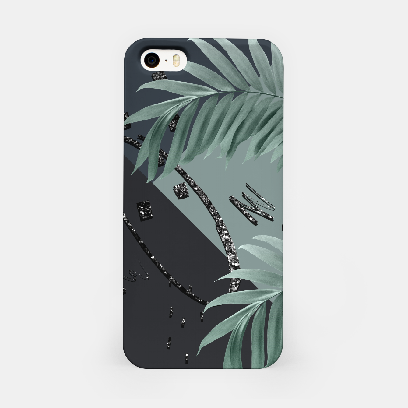 Image of Night Palms Cali Vibes Abstract Glitter Glam #1 #tropical #decor #art  iPhone-Hülle - Live Heroes
