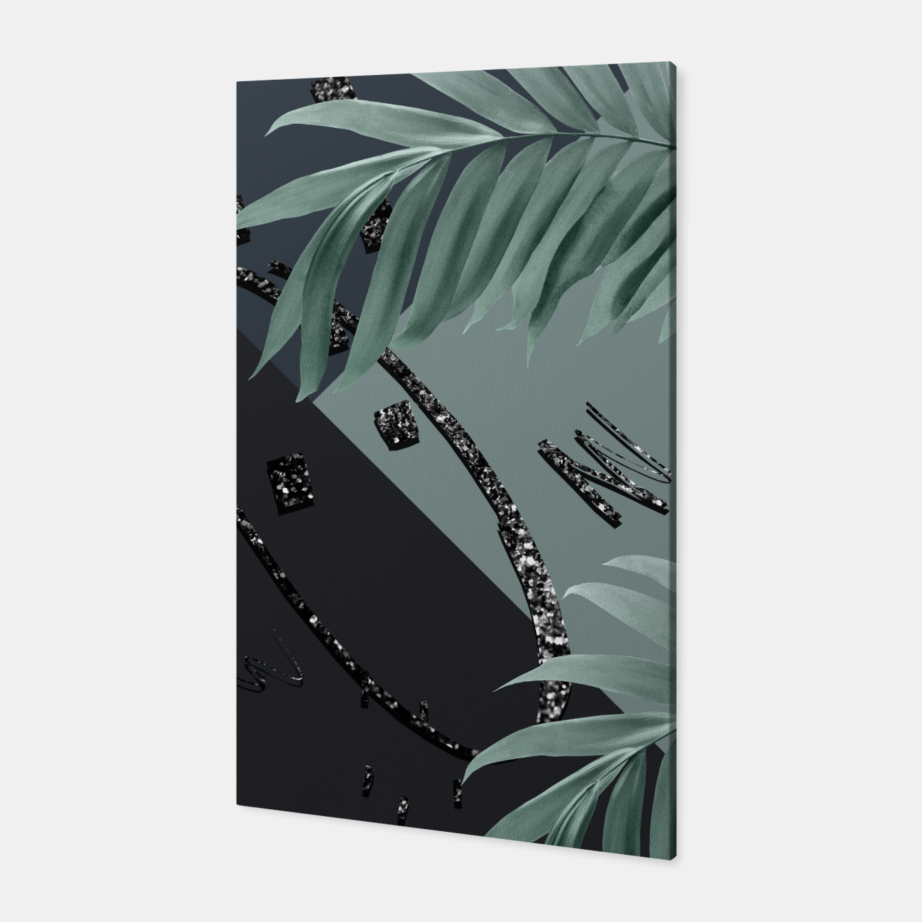 Zdjęcie Night Palms Cali Vibes Abstract Glitter Glam #1 #tropical #decor #art  Canvas - Live Heroes