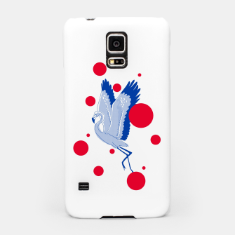 Thumbnail image of blue flamingo Samsung Case, Live Heroes
