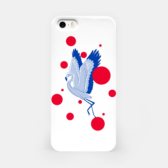 Miniatur blue flamingo iPhone Case, Live Heroes