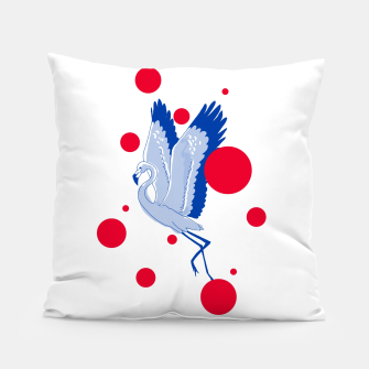 Miniatur blue flamingo Pillow, Live Heroes