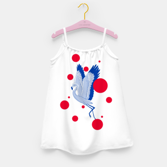 Miniatur blue flamingo Girl's dress, Live Heroes